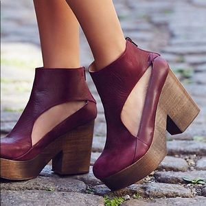 Free People Heels Size 38 8 Purple Horizon Clog